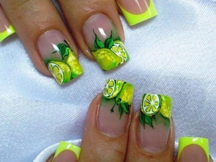 Фото дизайн ногтей фрукты